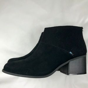 TOMS Lacy Booties - Black - Size US 11 - NWT